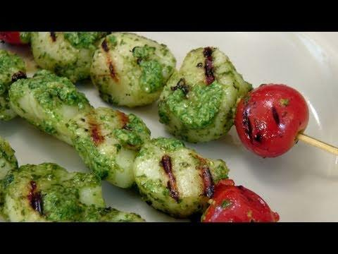 Grilled Pesto Scallop Skewers - Recipe By Laura Vitale - Laura In The Kitchen Episode 129