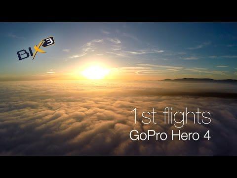 1st Flights GoPro Hero 4 Black | Bixler 3 RC Plane | FPV