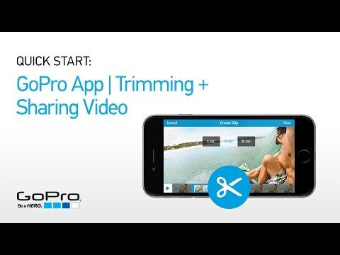 GoPro App Quick Start: Trimming + Sharing A Video Clip
