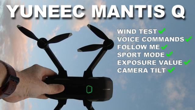 Yuneec MANTIS Q - Testing all the features in the Wind!