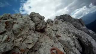 Climbing GoPro Delago Tower Southwest Ridge (Piaz Ridge) - Dolomiti - Spigolo Piaz Torre Delago