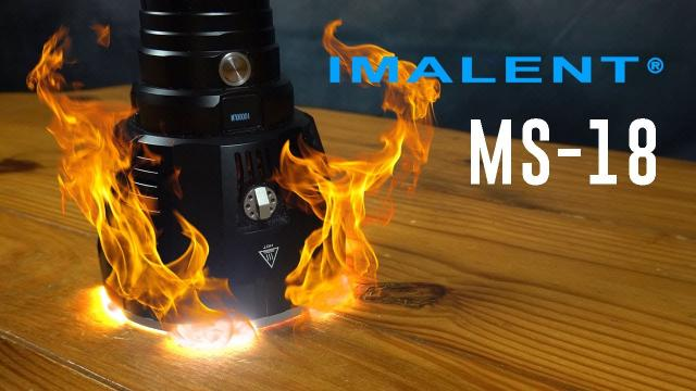World's BRIGHTEST Flashlight (Will it fry and egg?) Imalent MS-18