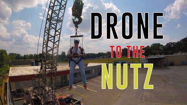 Crane drone stunt NUT-SHOT!  (Mindfield FPV Meet)