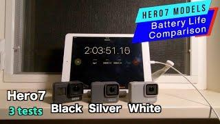 GoPro Hero7 Black Silver White Battery Life Comparison - GoPro Tip #622