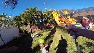 GoPro: Making a Flame Sword With The Backyard Scientist