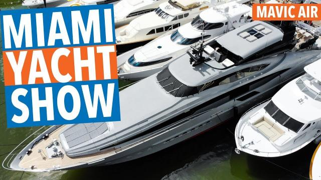 Miami Yacht Show DJI MAVIC AIR! 4K