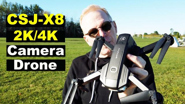 The new CSJ X8 2K/4K Camera Drone with 25 mins Flight Time and Carry Case - Review