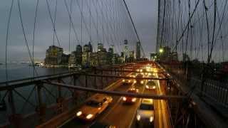 Brooklyn Bridge Day To Night Time-Lapse (GoPro) (January 2014)