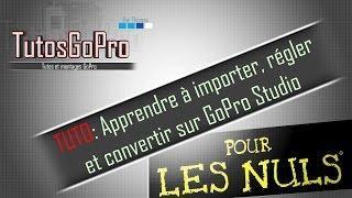 TUTO: GoPro Studio pour les nuls ! Importer, régler et convertir #1