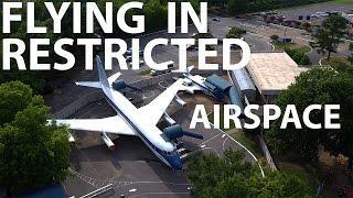 DJI Phantom 4 - Flying in RESTRICTED Airspace (Graceland)