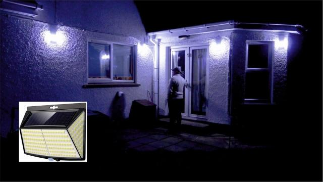 Solar Security Lights for Outdoor 228 LED's 4 Pack
