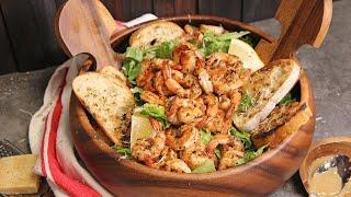 Blackened Shrimp Caesar Salad
