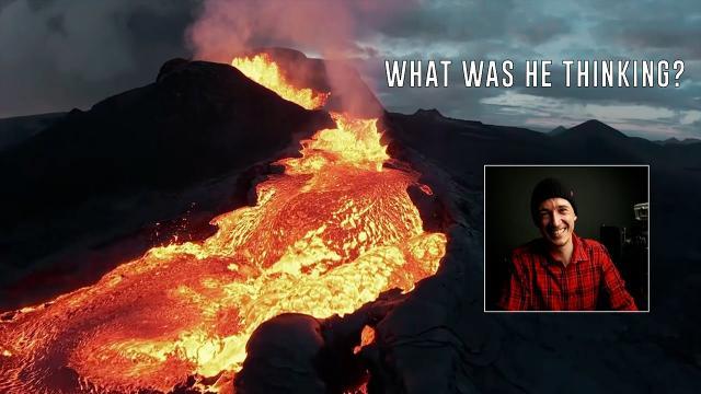 Epic drone crash into Erupting Volcano - Pilot Interview