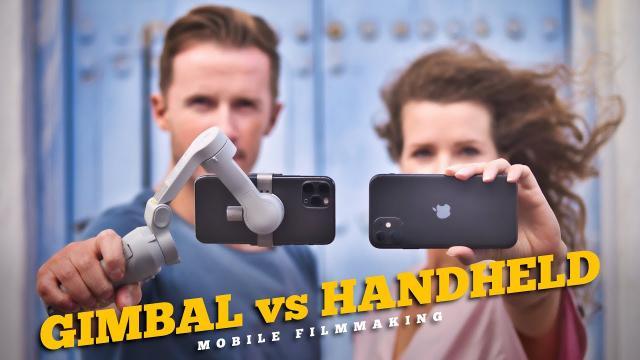 HANDHELD vs GIMBAL MOBILE FILMMAKING // DO YOU NEED A SMARTPHONE GIMBAL?