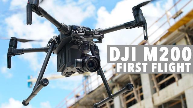 DJI M200 First Flight!