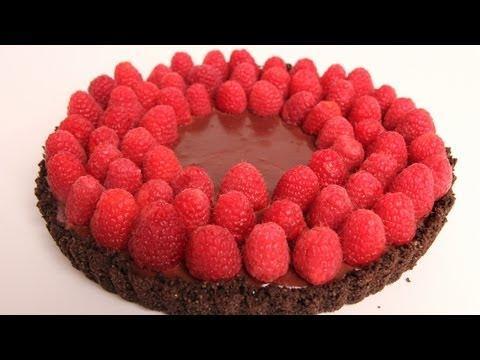 Chocolate Raspberry Tart Recipe - Laura Vitale - Laura In The Kitchen Episode 317