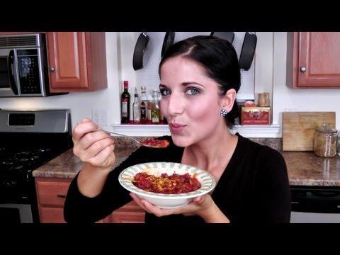 Three Bean Chili Recipe - Laura Vitale - Laura In The Kitchen Episode 978