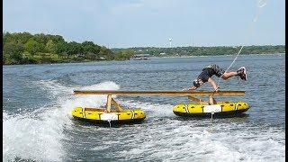 JB O'NEILL CRAZY WAKE RAIL STUNT! PART 1