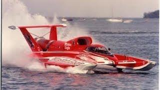 14 Scale Turbine Winston Eagle Unlimited Hydroplane RC Boat With Gopro Camera On Wing