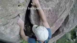 Rock Climbing With Experimental GoPro Backpack Mount