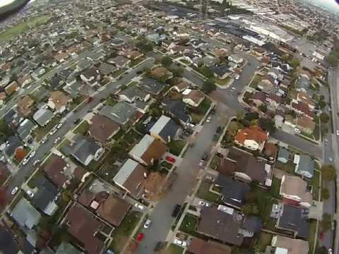 Awesome GoPro HERO 3 HD Camera On RC DJI F450 Quadcopter Drone, UAS, Aerial View, Black Ops UAV