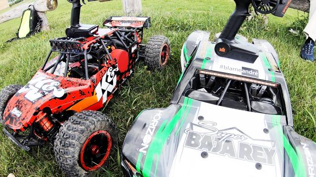 RC Cars - GAS vs ELECTRIC - Which is faster?  LOSI DBXL vs LOSI Super Baja Rey