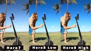 GoPro Hero8 + Hero7 Bitrate Quality Comparison - GoPro Tip #659 | MicBergsma