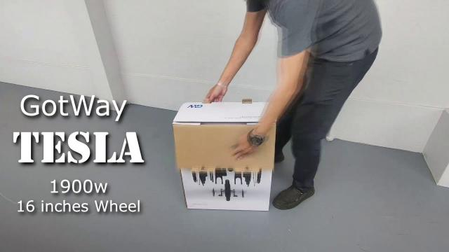 Unboxing the fastest 16 inches Electric Unicycle - Tesla