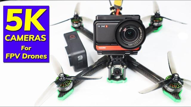 5K FPV Drone Camera - Insta360 One R vs GoPro Hero 9 - Comparison