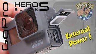 GoPro Hero 5 Black - External Power while Mounted! - GUIDE