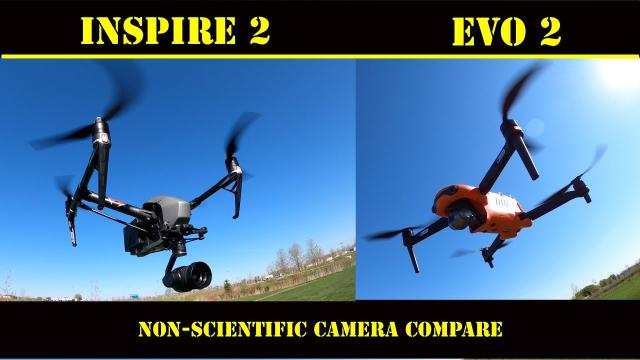 DJI Inspire 2 & Autel EVO 2 - A Quick Camera compare in bright hard sunlight