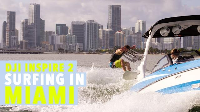 DJI Inspire 2: SURFING IN MIAMI! X5S 4K PRORES Olympus 45mm