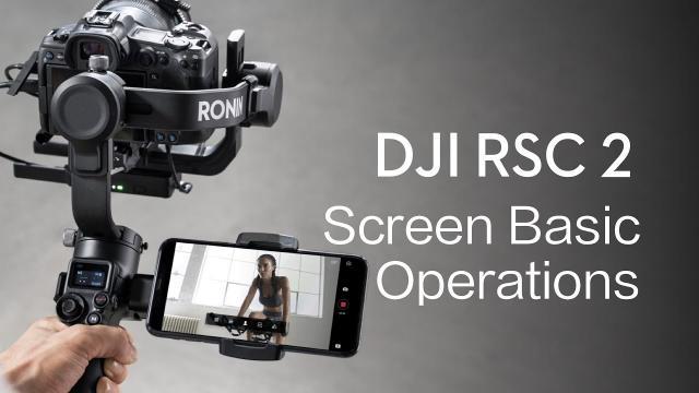 DJI RSC 2|Screen Basic Operations