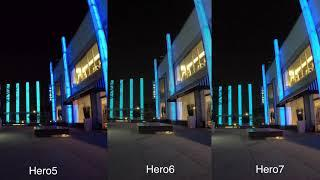 GoPro Hero7 Hero6 Hero5 Black Low Light Video Comparison - GoPro Tip #617