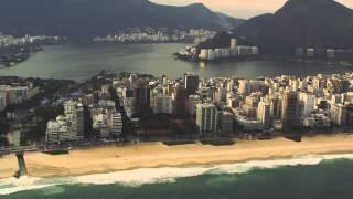 Aerial Tracking Shot Of Rio De Janeiro Coastline In Brazil