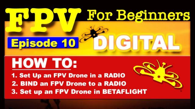 EP10 - FPV FOR BEGINNERS - How To set up an FPV DIGITAL Drone - Bind, Radio, Betaflight
