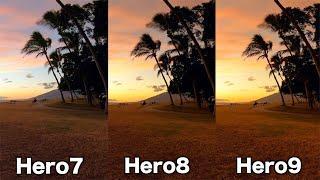 GoPro HERO9 HERO8 HERO7 Low Light Comparison - GoPro Tip #679 | MicBergsma
