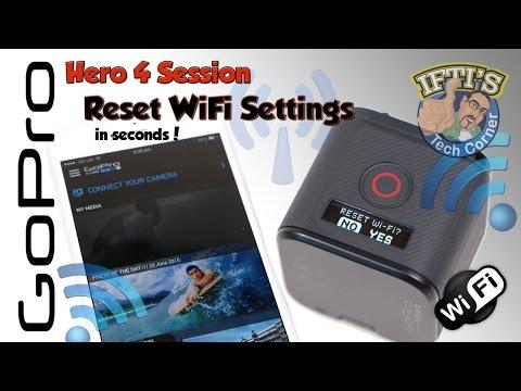 GoPro Hero 4 Session - Reset WiFi SSID & Password In Seconds! - GUIDE