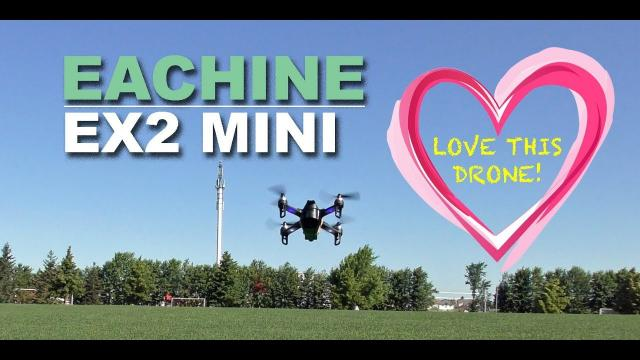 LOVE This Drone!  Eachine EX2 Mini - Review & Demo