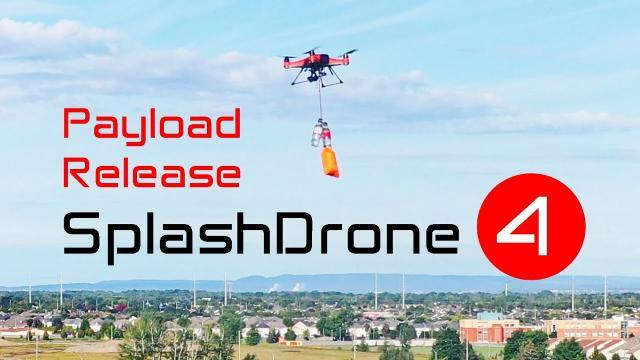 The new Waterproof Drone - SplashDrone 4 can lift 4 lbs & drop it (PART 3)