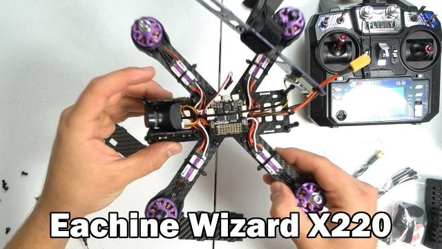 My First FPV Racer - Eachine Wizard X220 Unboxing/Setup - PART 1