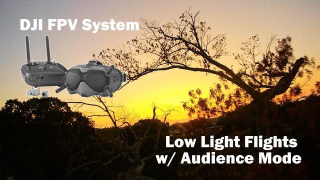 Low Light Flights w/ Audience Mode - DJI FPV System
