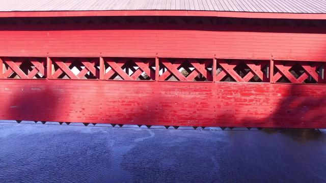 DRONE PHOTOGRAPHY - Red Covered Bridges - Winter - DJI Phantom