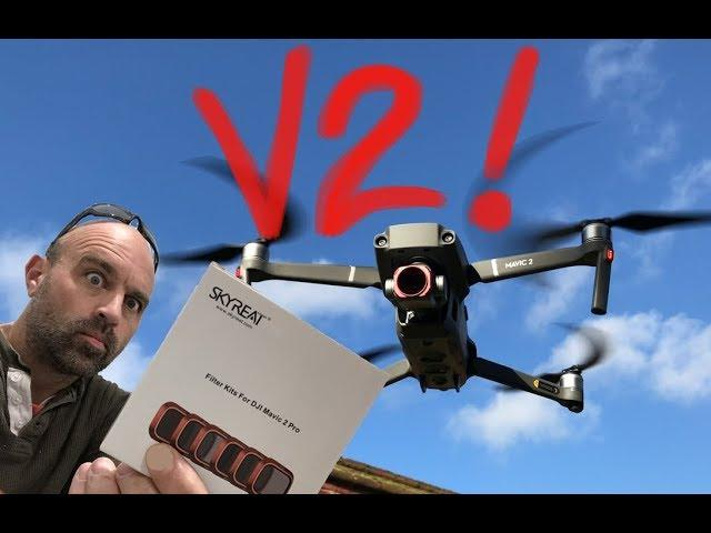 DJI Mavic 2 Pro Skyreat PL drone ND Filters V2! Finally got it Right??