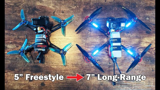 """Turning a Freestyle 5"""" into a Long-Range 7"""" FPV Quad - HGLRC Sector 5 V3"""