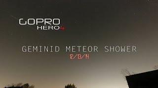 GEMINID METEOR SHOWER 12-13-14 GoPro HERO4 NIGHTLAPSE