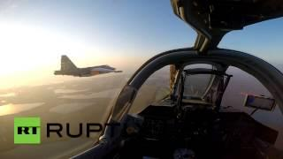 RAW: GoPro Video From Inside Cockpit Of Russian SU-25SM3