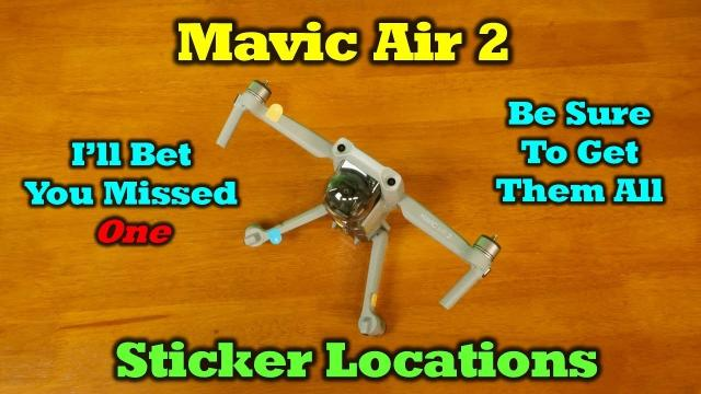 Mavic Air 2 - Sticker Locations - I'm betting you missed one