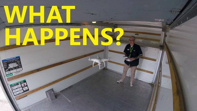 Hovering Drone in a Van - Watch what happens - KEN HERON