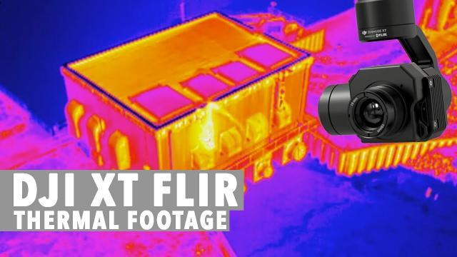 DJI XT FLIR Thermal Camera Footage